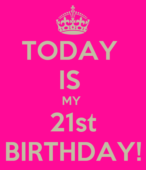 TODAY IS MY 21st BIRTHDAY! Poster NAME Keep Calm O Matic