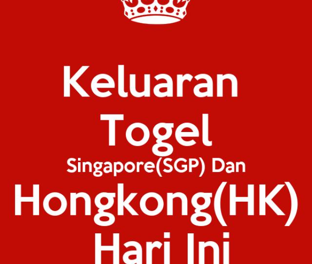 Keluaran Togel Singaporesgp Dan Hongkonghk Hari Ini Poster