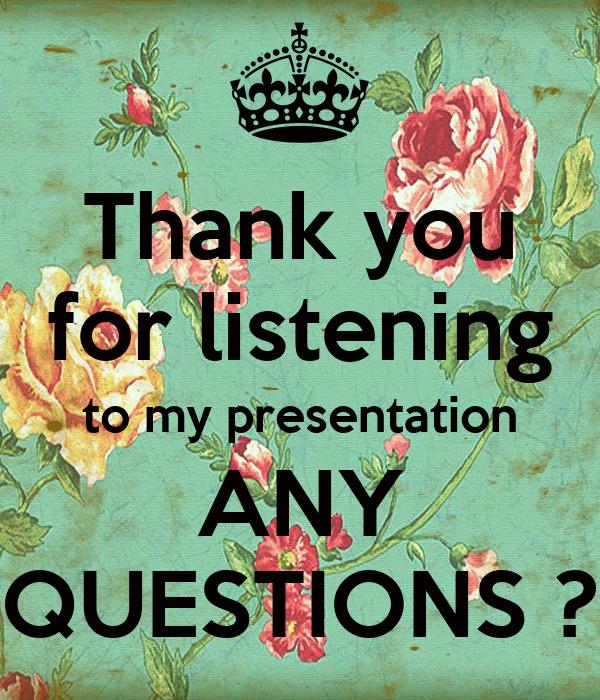 ここへ到著する Thank You For Your Listening Any Questions - さととめ