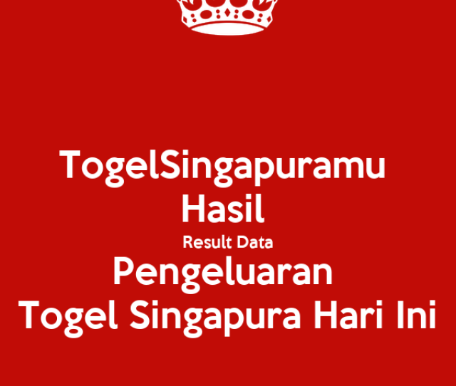 Togelsingapuramu Hasil Result Data Pengeluaran Togel Singapura
