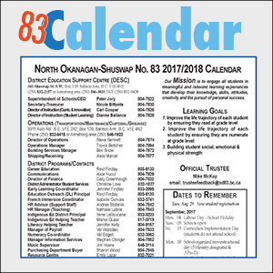 District Calendar & Contacts