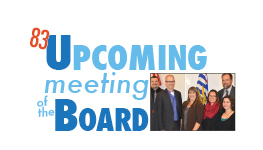 Board meeting Tuesday