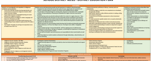 District Learning Plan