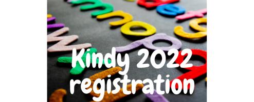 Kindy Registration for 2022