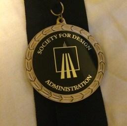 The prestigious Lifetime Achievement Award medal