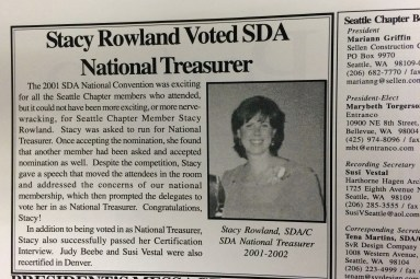 Chapter member Stacy Rowland