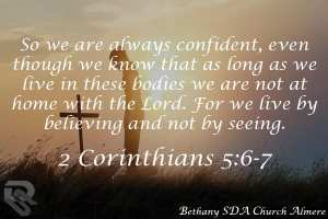 2 Corinthians 5:6-7