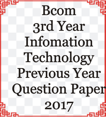 Bcom 3rd Year Information Technology Previous Year Question Paper 2017