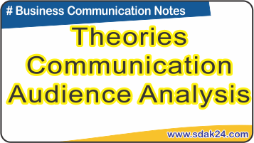 Theories Communication Audience Analysis