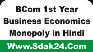 BCom 1st Year Business Economics Monopoly in Hindi