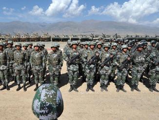 قوات صينية تشارك في مناورات مشتركة في قيرغيزستان