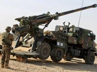 المدفعية الفرنسية جنوب الموصل
