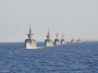 قطع حربية تابعة للبحرية المصرية
