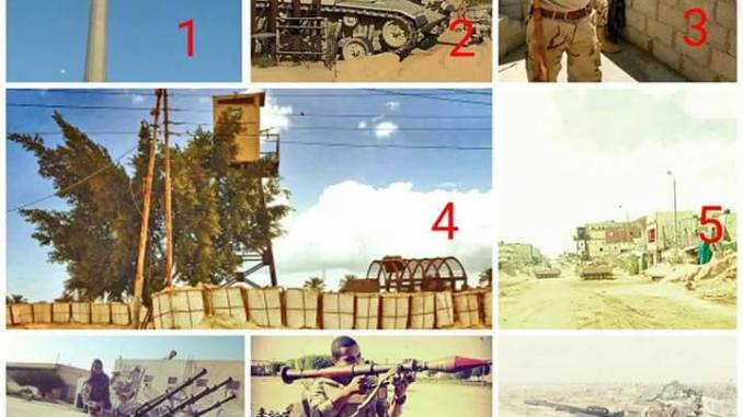صورة توضيحية للجيش المصري في سيناء والأسلحة المستخدمة