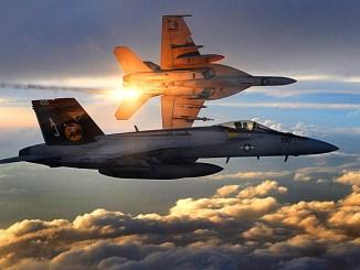 مقاتلتا إف-18 سوبر هورنيت