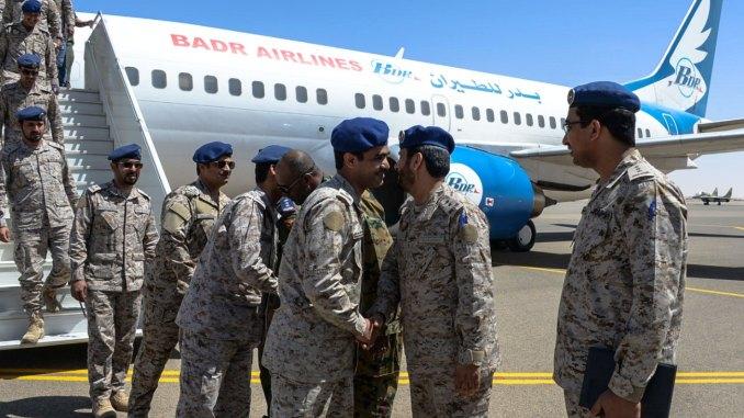 وصول القوات الجوية السعودية إلى السودان