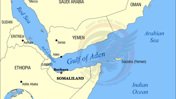 خريطة باب المندب وجمهورية أرض الصومال