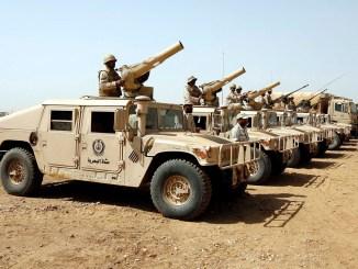 أفراد من القوات البرية السعودية