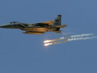 طائرة تابعة للتحالف الدولي