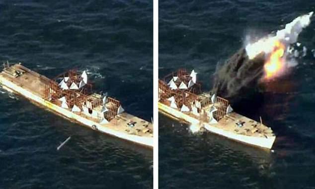 لقطة من اختبار الصاروخ الكوري الشمالي