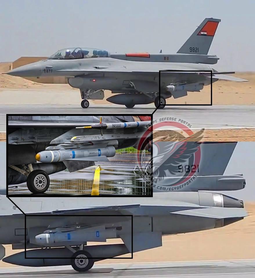 مقاتلة أف-16 بلوك-52 المصرية مزوّدة بصاروخ Maverick