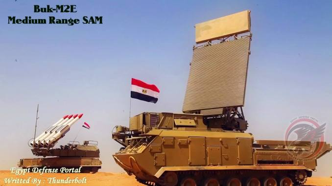 نظام الدفاع الجوي Buk-M2E العامل لدى قوات الدفاع الجوي المصري