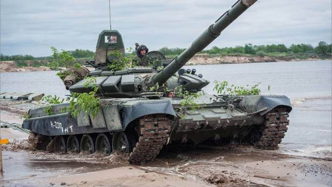 دبابة تي-72 بي 3 الروسية