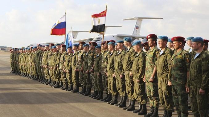 قوات مصرية روسية