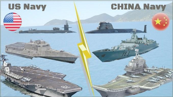 الأساطيل البحرية الأميركية والصينية