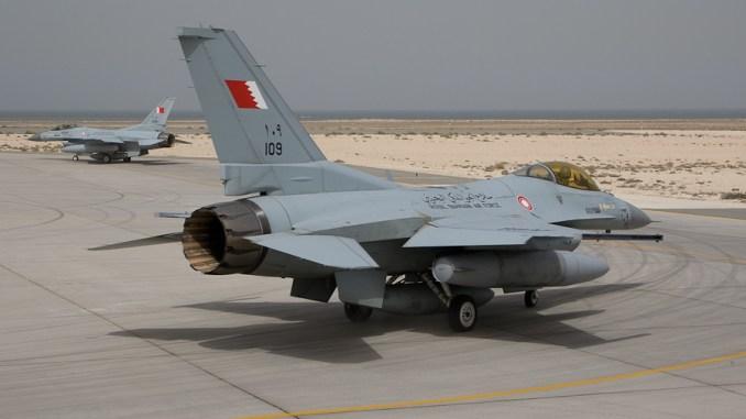 مقاتلة أف-16 تابعة لسلاح الجو البحريني