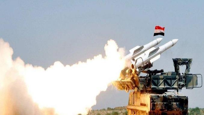 لقطة للدفاعات الجوية السورية