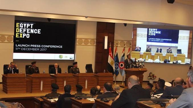 لقطة من المؤتمر الخاص بالمعرض الدولي الأول للصناعات الدفاعية والعسكرية 