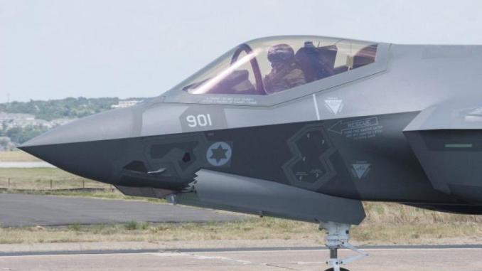 """مقاتلة أف-35 الإسرائيلية المعروفة بـ""""أدير"""" في منشأة شركة """"لوكهيد مارتن"""" في فورت وورث، تكساس (Lockheed Martin)"""