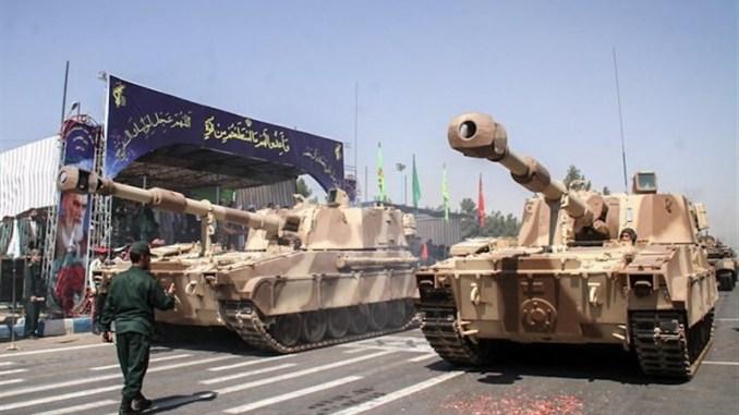 """مدفع """"رعد-2"""" ذاتي الحركة عيار 155 ملم من إنتاج إيراني (وكالة تسنيم)"""