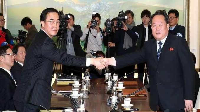مباحثات بين وفدي الكوريتين الجنوبية والشمالية