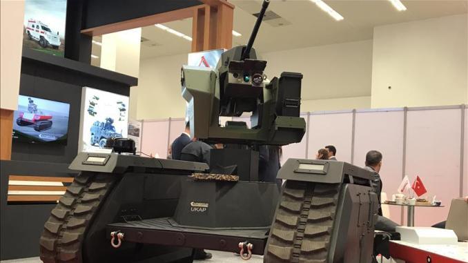 """منصة الإطلاق المسيرة """"أوكاب"""" من إنتاج شركة """"قطمرجلار"""" التركية للصناعات العسكرية (وكالة الأناضول)"""