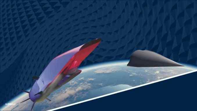 رسم لصاروخ فرط صوتي