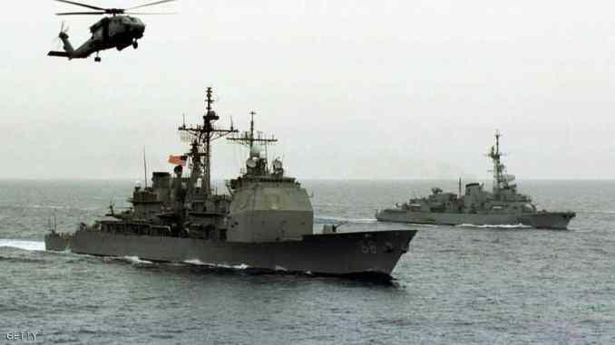 سفن حربية أميركية في الخليج العربي (صورة أرشيفية)