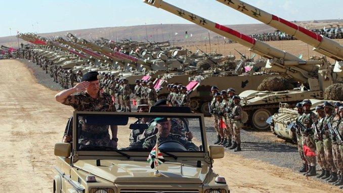 ملك الأردن في مناورات الأسد المتأهب 2016 (صورة أرشيفية)