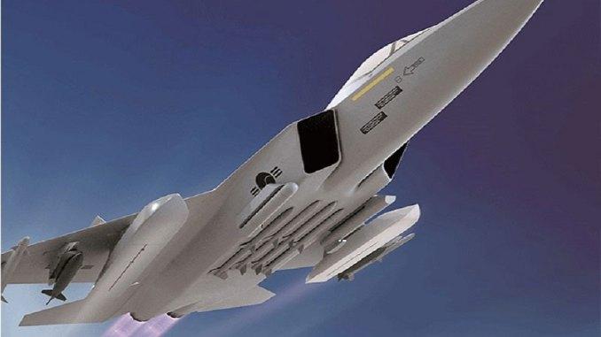 نموذج عن مقاتلة KF-X الكورية (شركة KAI)