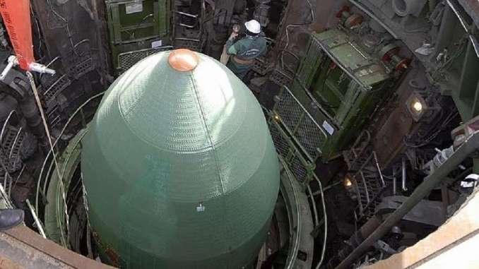 """صاروخ """"سارمات"""" العابر للقارات (روسيا اليوم- صورة أرشيفية)"""