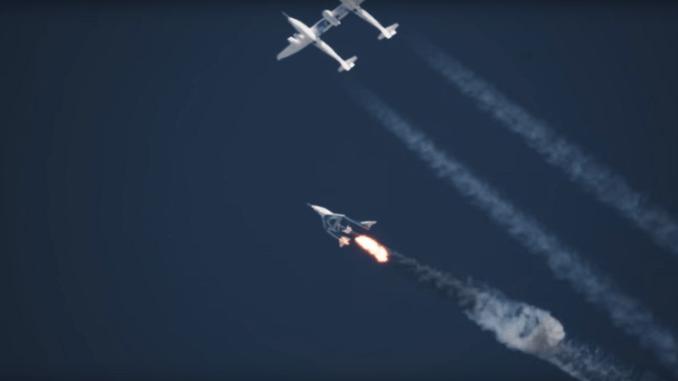 """إختبار شركة """"Virgin Galactic"""" الأميركية لطائرتها المدارية """"SpaceShip Two"""""""
