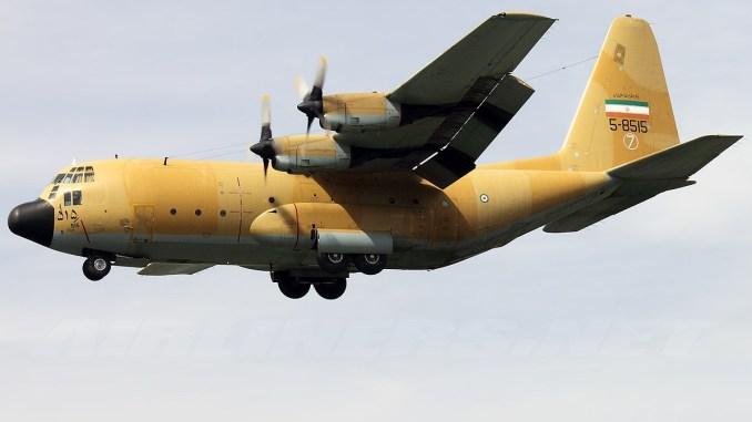 """طائرة النقل """"سي-130"""" تابعة لسلاح الجو الإيراني في مطار مهرآباد الدولي، طهران يوم 11 أيار/مايو 2011 (Airliners.net)"""