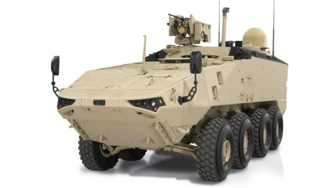 """أحدث نموذج من مركبة LAV 700 المدرعة الخفيفة من إنتاج شركة """"جنرال دايناميكس للأنظمة البرية"""" – فرع كندا (موقع GDLS)"""