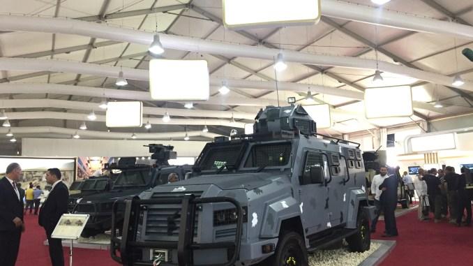 """مركبات الجواد، المها والوشق الأردنية في جناج مجموعة كادبي الاستثمارية ضمن فعاليات مهرض """"سوفكس 2018"""" (الأمن والدفاع العربي)"""