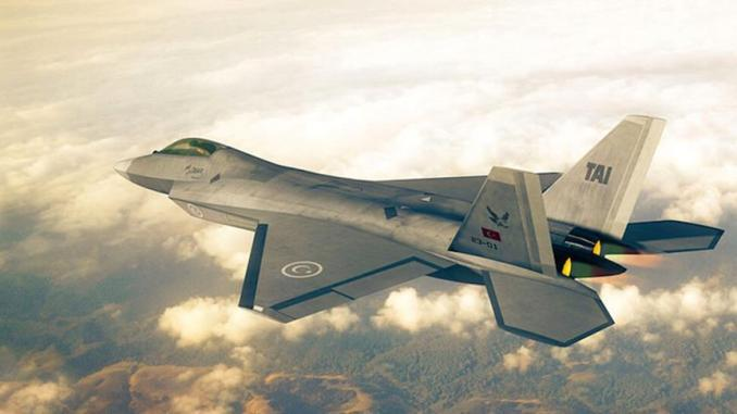 نموذج عن مقاتلة TFX التركية محلية الصنع (صورة أرشيفية)
