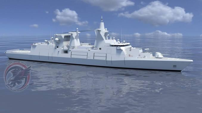 صورة توضيحية للفرقاطة الثقيلة MKS 180 - المعروفة أيضاً بـF126 – التي قد تكون الخيار المصري المقبل (بوابة الدفاع المصرية)