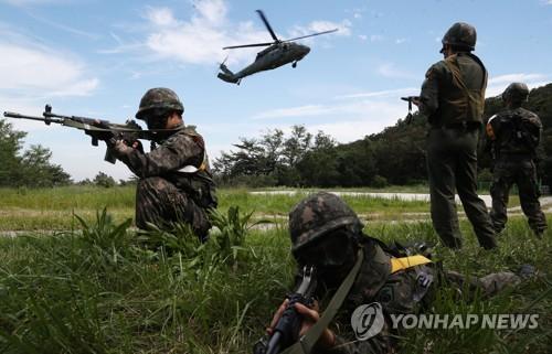 تدريبات عسكرية مشتركة بين كوريا الجنوبية والولايات المتحدة الأميركية (صورة أرشيفية)