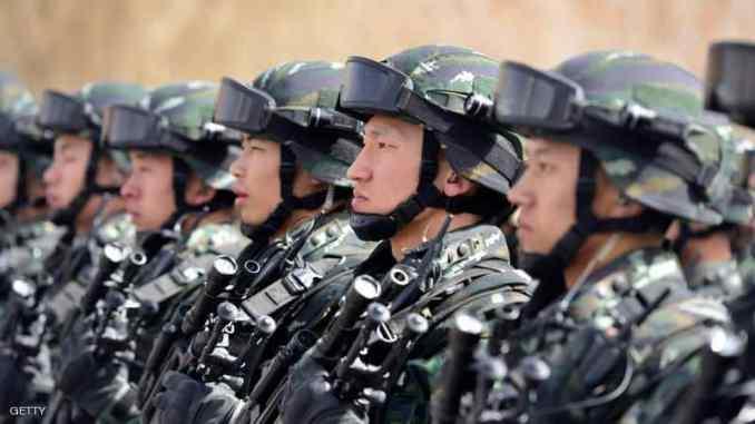 عناصر من القوات المسلّحة الصينية