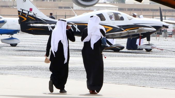 العرض الجوي في الكويت في 17 كانون الثاني/ يناير 2018
